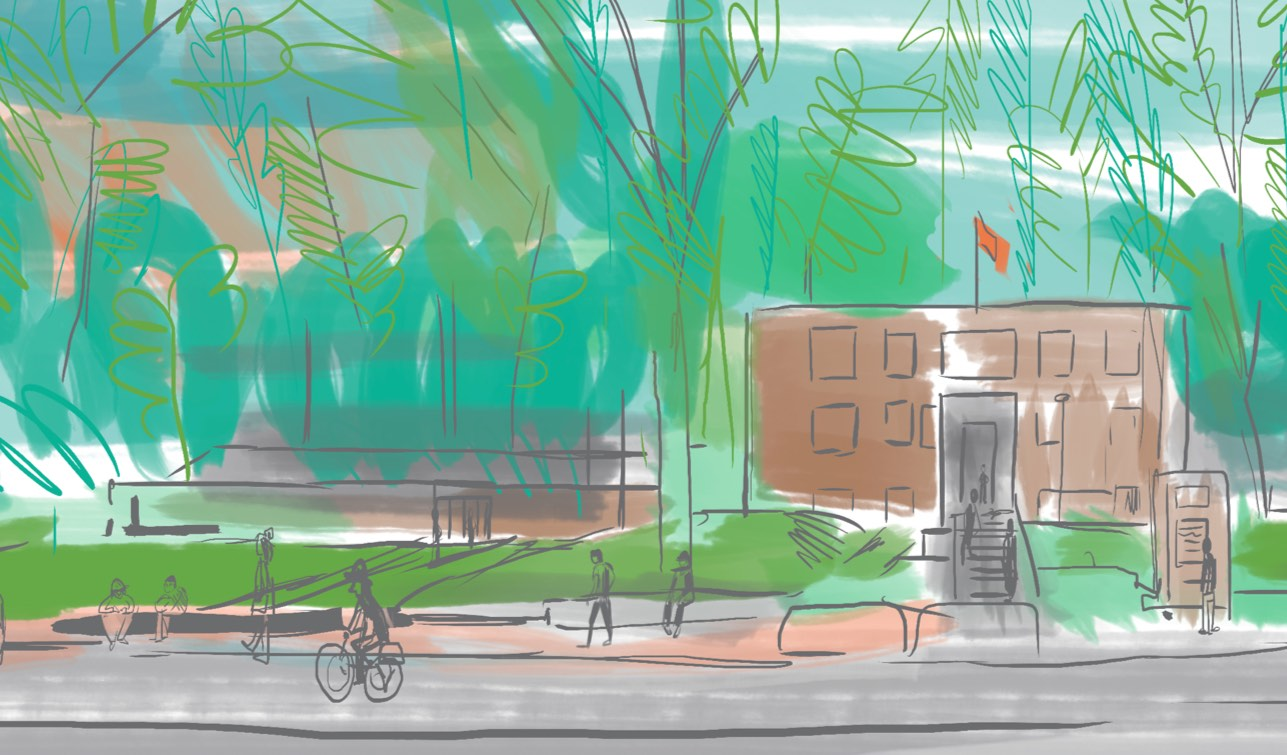 Illustration of moss park community centre